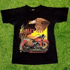 Vintage 1996 Harley Davidson Immortal 3D Tee